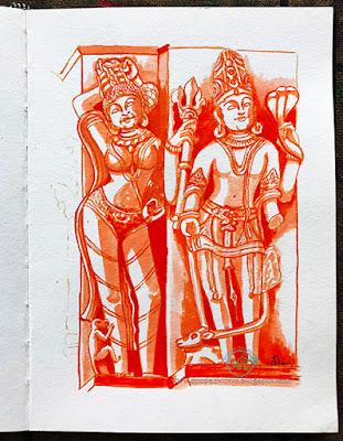 Lord-Shiva-Apsara-Inktober2018-HuesnShades