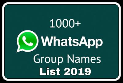 Whatsapp group names