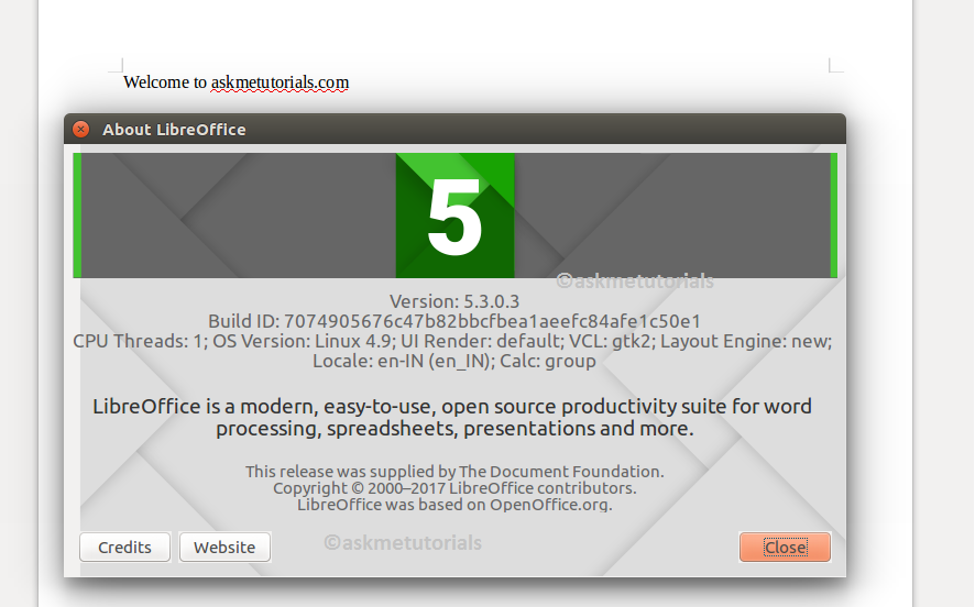 Install / Uninstall Libreoffice 5 3 0 On Ubuntu / LinuxMint / CentOS