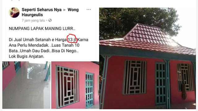 Gilak, Rumah Ini Dijual Hanya Seharga 13jt Lengkap Dengan Sertifikat Tanahnya.