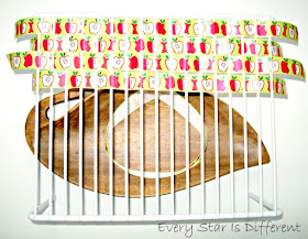 weaving with apple ribbon.