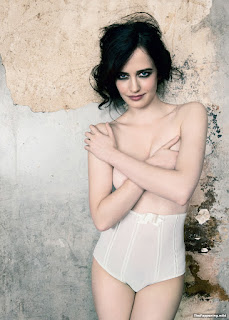 Eva Green Covering Her Assets By Hands