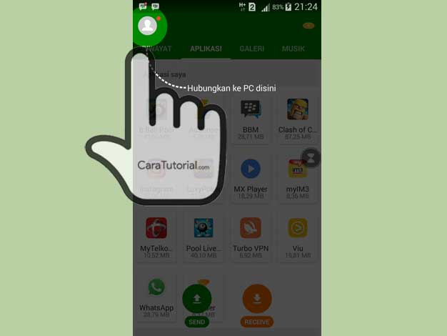 Aplikasi Xender for Android