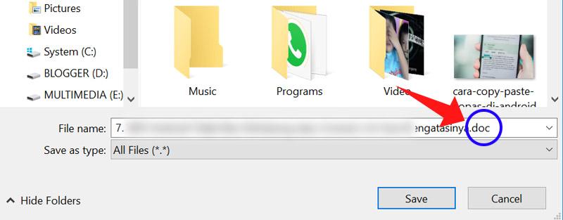 Cara Download File dari WhatsApp yang Format Filenya Tidak Didukung