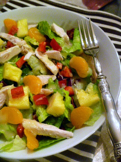 Caribbean Chicken Salad - Built for flavor and bursting with Mandarin Oranges!  Slice of Southern