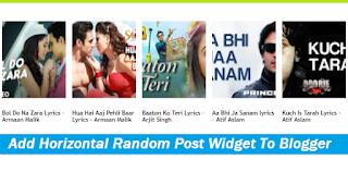 How to Add Horizontal Random Post Widget to Blogger