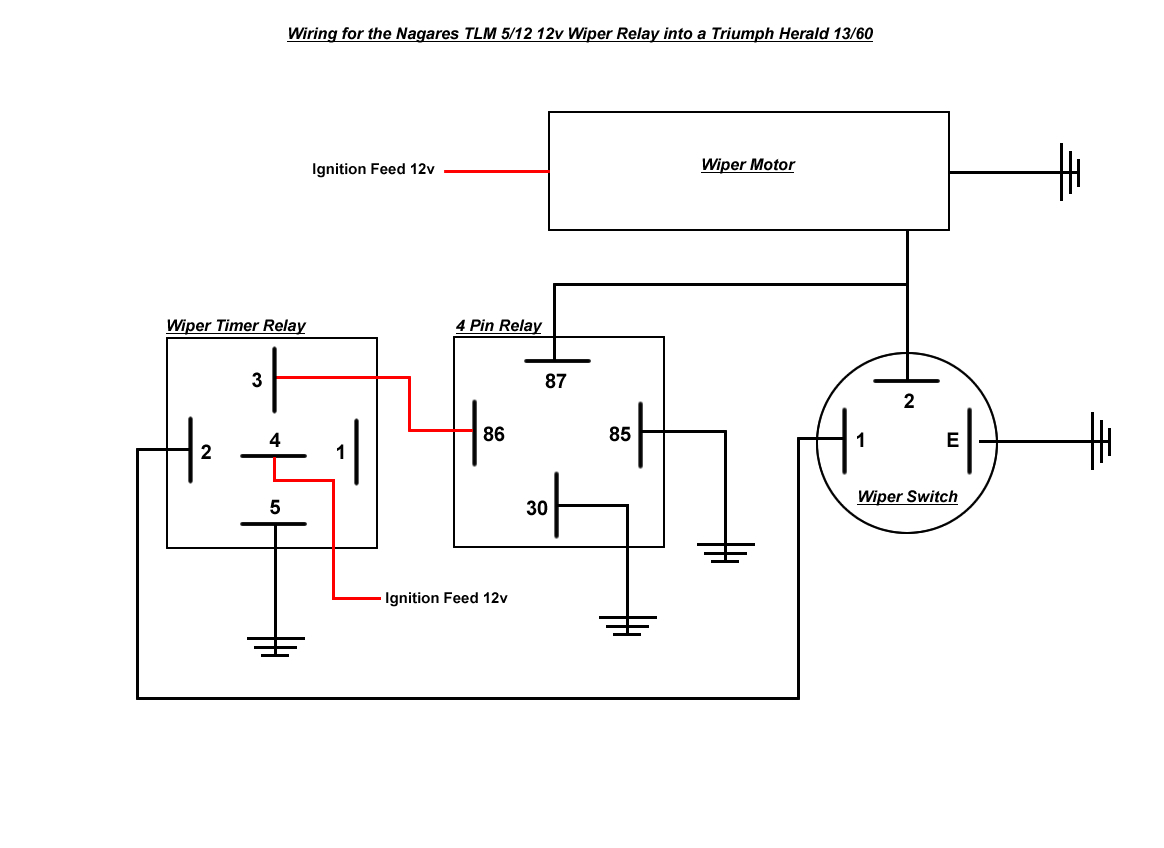 wiper motor 12 volt relay wiring diagrams wiring diagram explained 2000 f350 wiper relay location wiper motor relay diagram [ 1164 x 848 Pixel ]