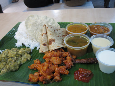 Komala's, south indian rice meal