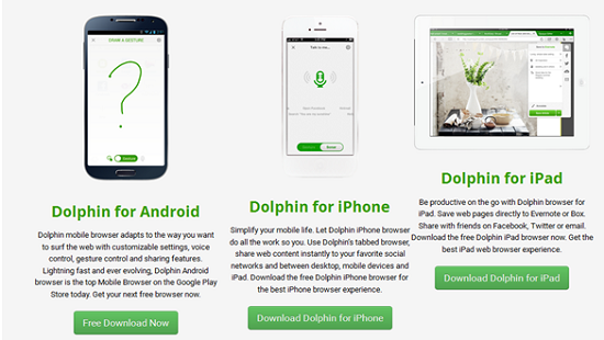 Dolphin, browser android