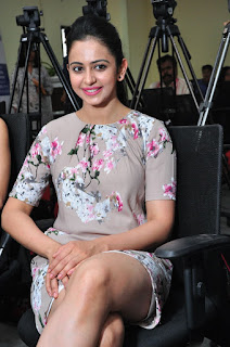 Rakul Preet Singh Latest Stills in Floral Dress at Infinity Ride 2016 Curtain Raiser Press meet ~ Celebs Next