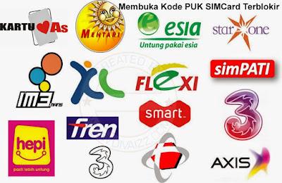Kode PUK All Operator - www.divaizz.com