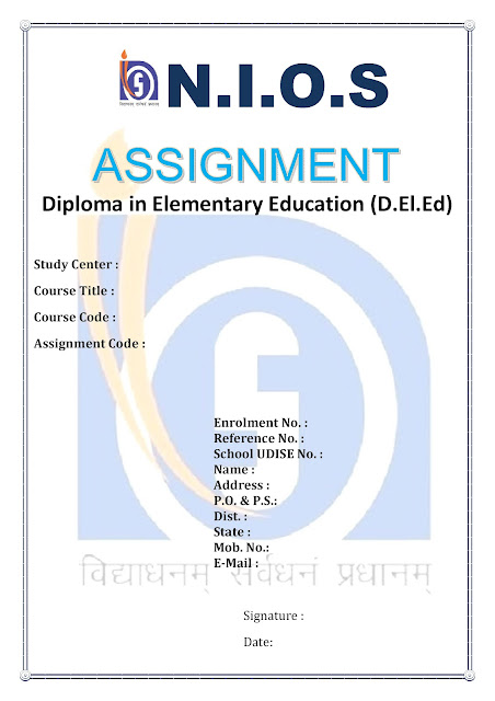 Cyber web nios d el ed assignment cover page design free for Assignment front page decoration