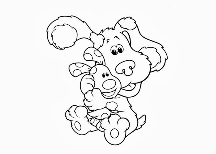 baby bear blues clues coloring pages - photo #2
