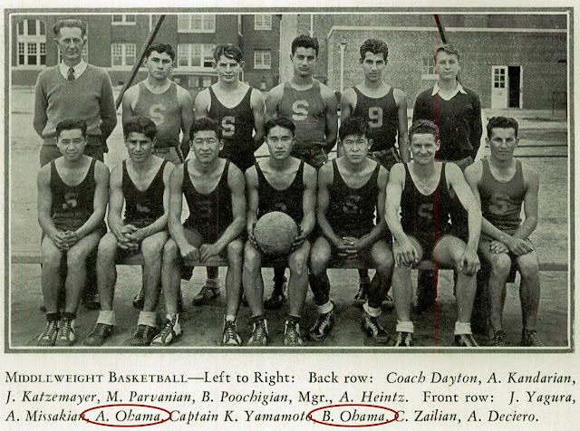 My husband's Uncle Abe and father Ben on a pretty short basketball team.