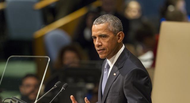 Obama: uma no cravo e outra na ferradura. Foto: Loey Felipe, ONU