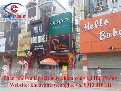 Phân phối và lắp đặt máy chấm công vân tay Ronald Jack X628 Plus tại cửa hàng điện thoại Minh Hoàng Mobile - Thành phố Hải Phòng.
