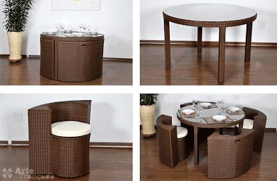 Rekaan Moden Kerusi & Meja yang Kreatif - kerusi tersorok