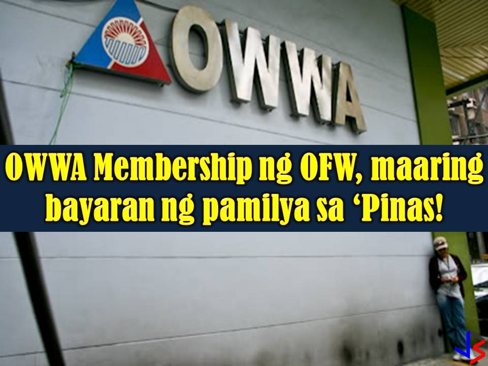 Every Overseas Filipino Workers (OFW) should be an active member of Overseas Workers Welfare Administration (OWWA). Through this membership, OFWs can avail of loans, acquire scholarship from TESDA, and avail of livelihood and entrepreneurship seminars and other reintegration programs upon their return to the Philippines.  OFW's can remain as an active member of OWWA by paying their membership fee of $25 or around P1,300 pesos per two years.  This membership fee can be paid by the OFW itself during his vacation in the country or through the OWWA mobile app if he's in abroad working.  But aside from this, don't you know that as an OFW, your family back home can pay your OWWA membership in the nearest OWWA Office in your area?  Yes, this is very much easy and possible! When paying for OFW's membership in OWWA, a family member should bring the following;  Valid Employment Contract of an OFW Certificate of Employment of an OFW Valid Work Permit or Work Visit of an OFW Photocopy of OFW's passport showing the identification and photo Authorization Letter from the OFW A valid ID of the family member  For married OFWs, a spouse can pay the OWWA membership here in the Philippines. If the OFW is single, the parents or siblings.