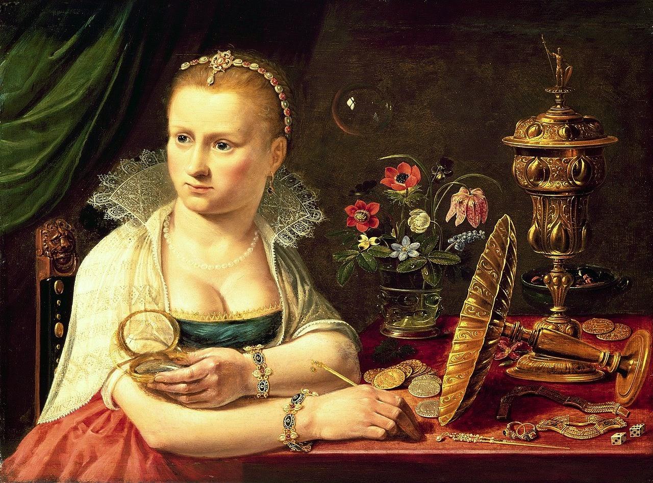 Vanitas painting%2C selfportrait most probably Clara Peeters - ¿Quién fue la primera mujer artista en la Historia del Arte?