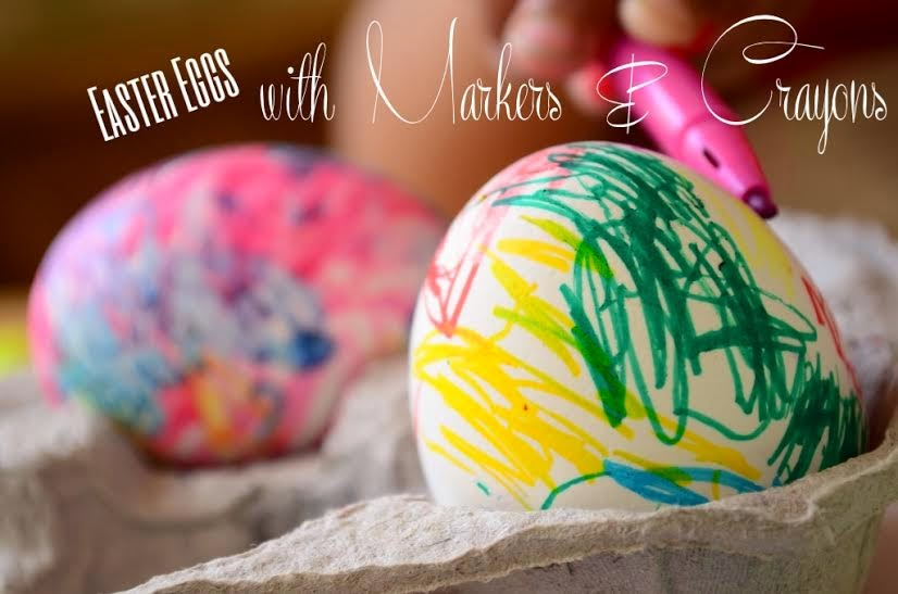 Easter Egg Activity: with Melted Crayons & Markers