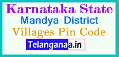 Mandya District Pin Codes in Karnataka State