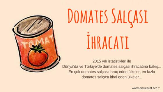 domates salcasi ihracat
