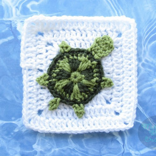 Sea Turtle Applique & Granny Square - Free Pattern