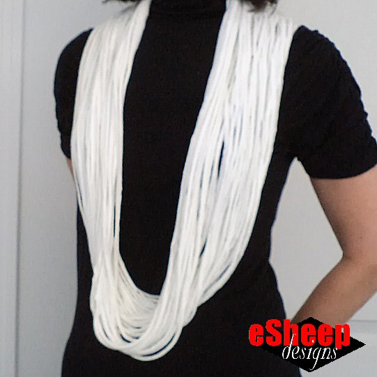 Infinity Strand Scarf crafted by eSheep Designs