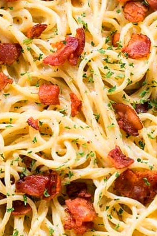 Bacon ranch garlic parmesan pasta recipe