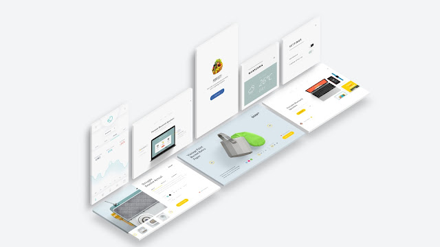 Free Web and App UI Screen Mockup PowerPoint Templates Slide 4