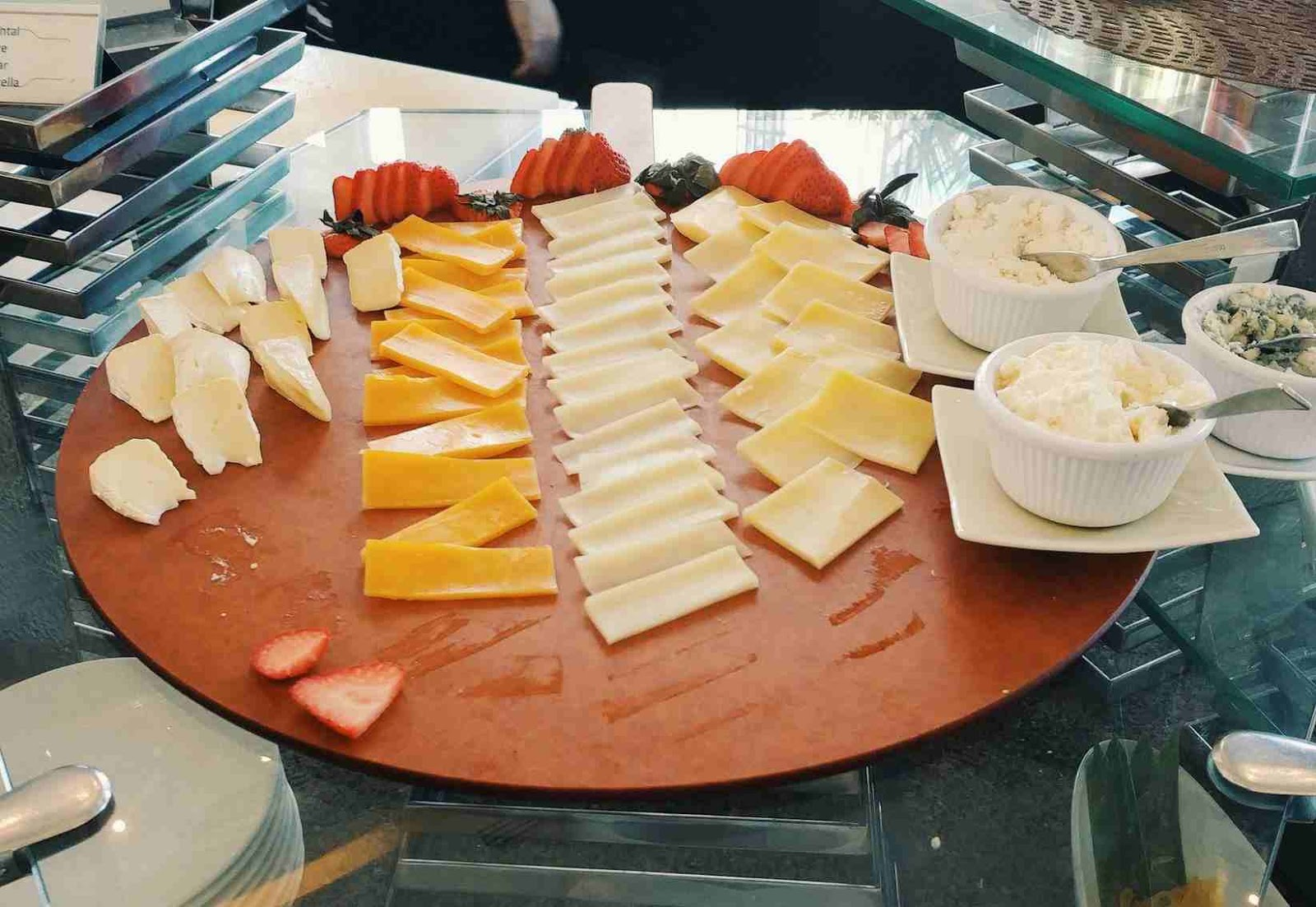 Cheese board at Acaci Cafe in Acacia Hotel