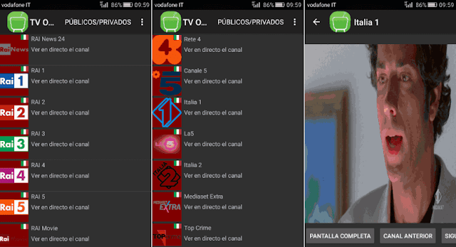 App TV Online Univ Android, Windows e Windows Phone