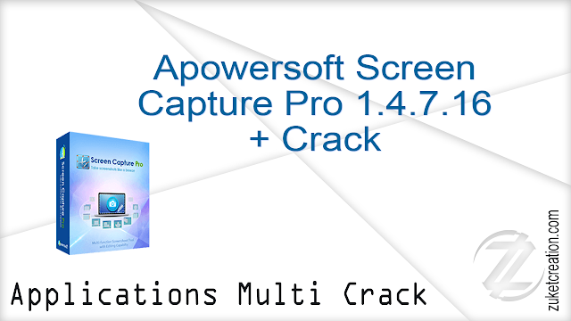 Apowersoft Screen Capture Pro 1.4.7.16 + Crack  |    27.2 MB
