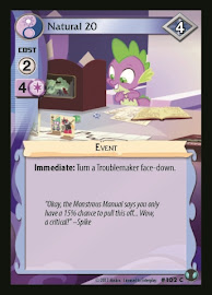 My Little Pony Natural 20 Defenders of Equestria CCG Card