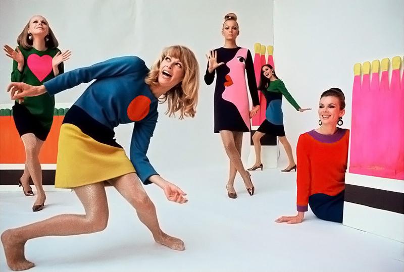 "Yves Saint Laurent ""Pop Art"" dress in Life September 1966 (photography: Jean-Claude Sauer) via www.fashionedbylove.co.uk british fashion blog"
