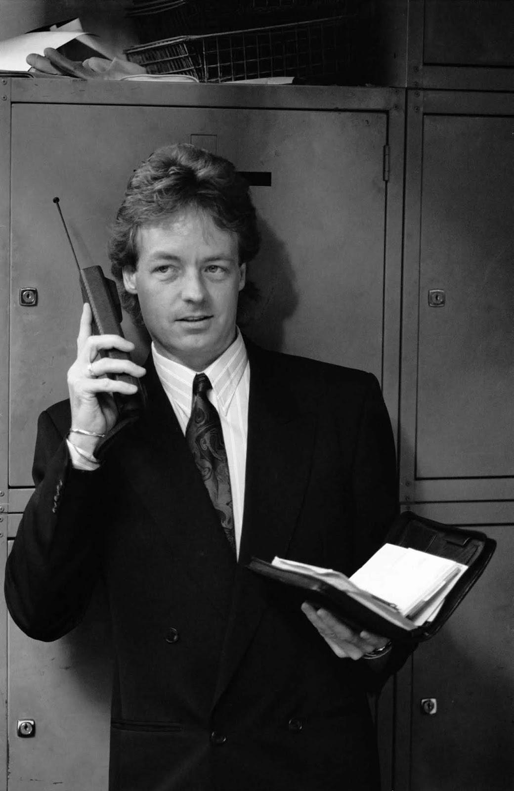 Um homem arquetípico dos anos 80. 1988.