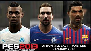 PES 2013 Option File Last Transfers January 2019
