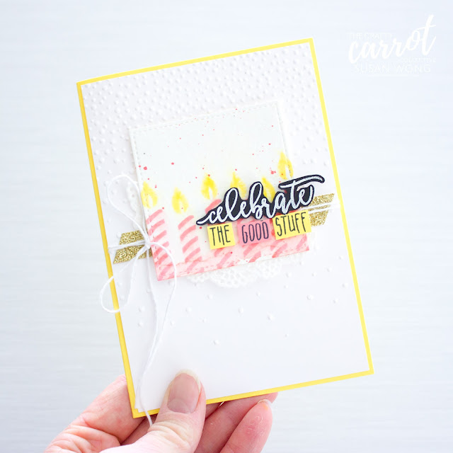 Picture Perfect Birthday by Stampin' Up! card - Susan Wong for The Crafty Carrot Co.
