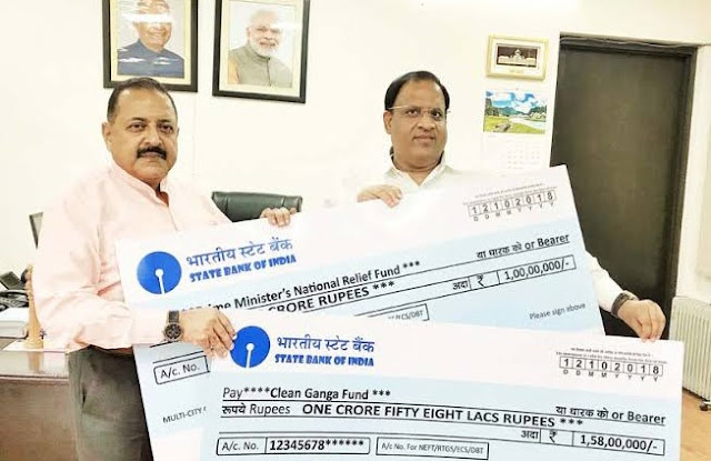Haryana Minister donates Rs 2.58 cr for Clean Ganga Fund and PM Relief Fund