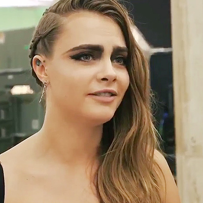 Cara Delevingne at the video shoot Bad Blood