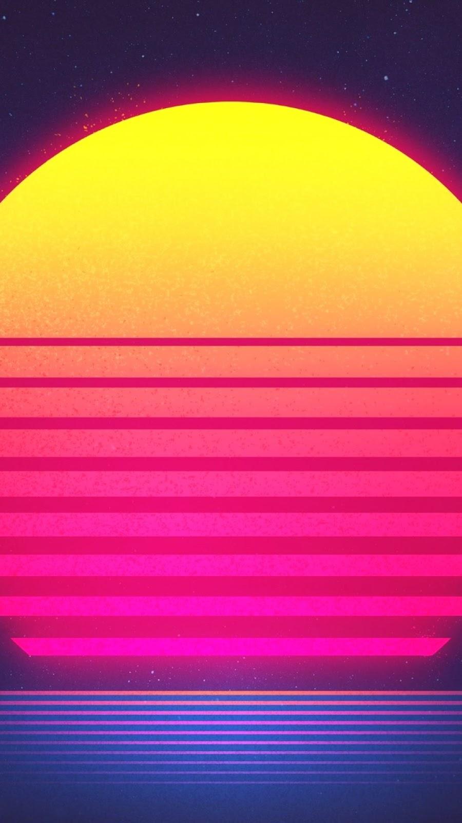 Papel de parede grátis Abstrato Retro Vintage Pôr do Sol para PC, Notebook, iPhone, Android e Tablet.