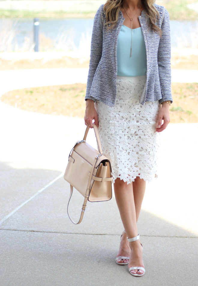 Mint Top White Lace Skirt Lilly Style