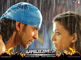Aishwarya Rai And Hrithik Roshan In Rain