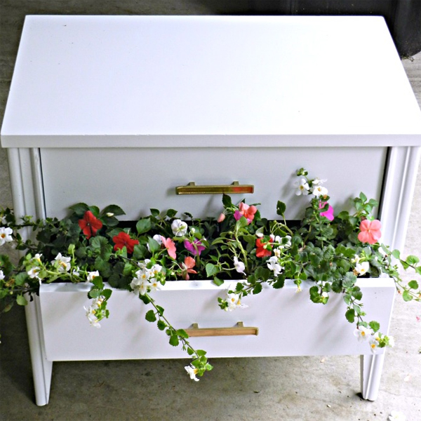 Serenity Now Ikea Shopping Trip And Home Decor Ideas: Nightstand Turned Planter