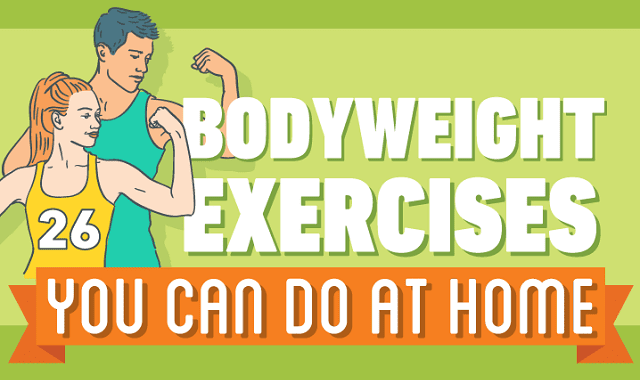 26 body weight exercises you can do at home