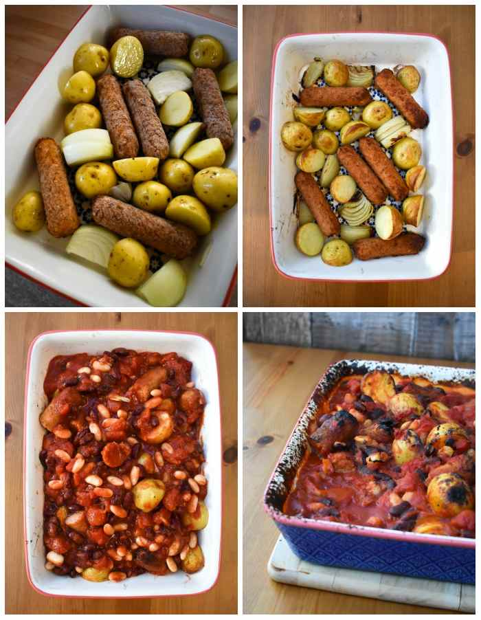 Step-by-step photos for Vegan Cowboy Beans & Potato Bake