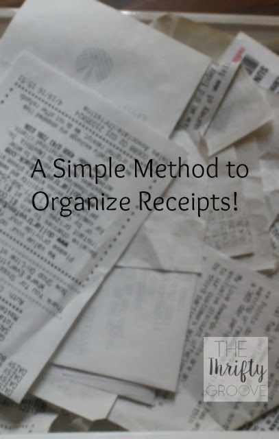 How to deal with the clutter of receipts. Simple, easy and thrifty method