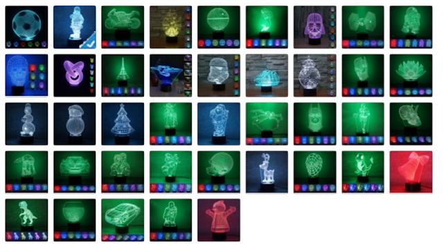 Creative 3D Design 7-Color LED Night Light
