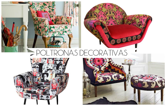poltronas decorativas coloridas