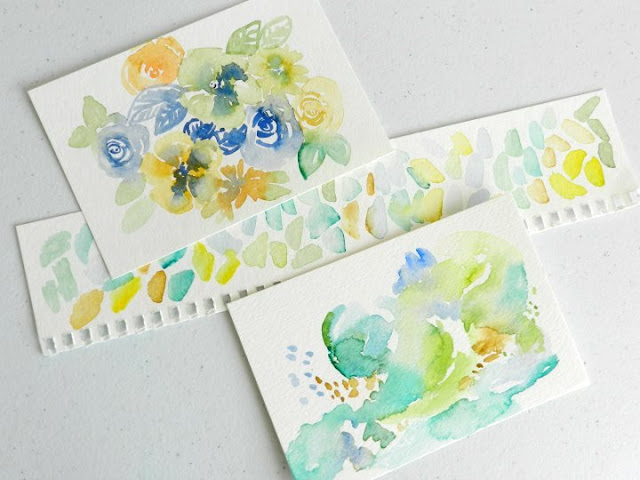 Abstract and Floral Watercolor by Elise Engh